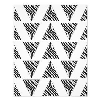 Monochrome Geometric Pattern with Zebra Stripes 11.5 Cm X 14 Cm Flyer