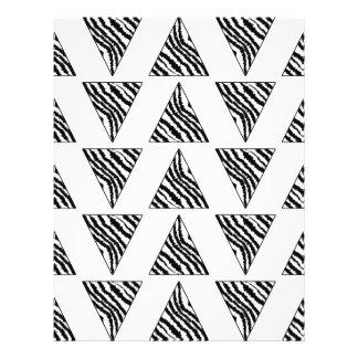 Monochrome Geometric Pattern with Zebra Stripes Flyer Design