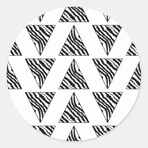 Monochrome Geometric Pattern with Zebra Stripes Sticker