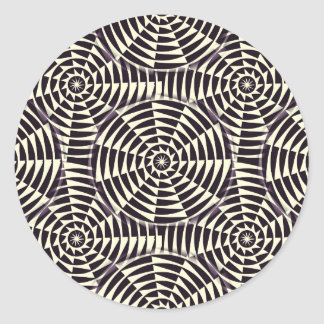 Monochrome geometric seamless pattern classic round sticker