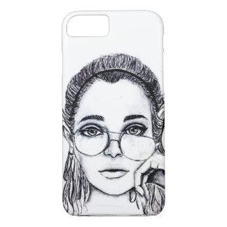 Monochrome Girl iPhone 7 Case