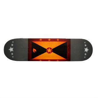 Monochrome Grenada Flag Skate Boards