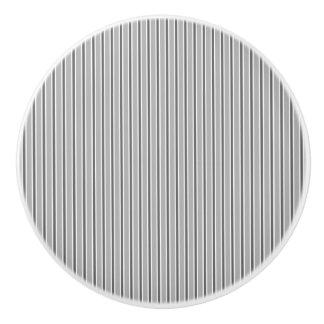 Monochrome Grey Stripe Design - Drawer Knob