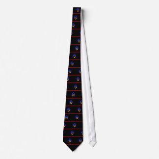 Monochrome Guam Flag Tie