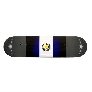 Monochrome Guatemala Flag Skate Deck
