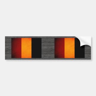 Monochrome Guinea Flag Bumper Sticker