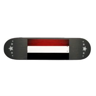 Monochrome Hungary Flag Skateboard Decks
