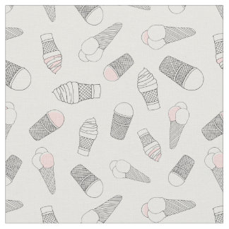 Monochrome ice-cream fabric