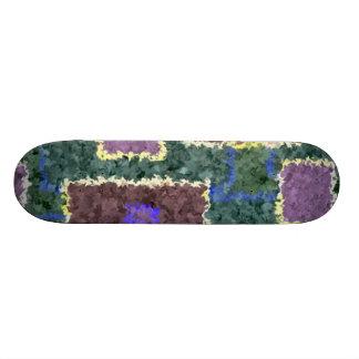 Monochrome in Green, Mauve & Cream Skateboard