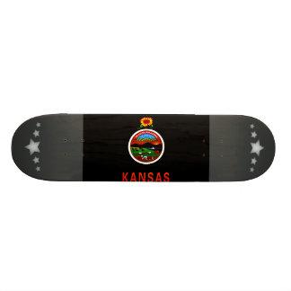 Monochrome Kansas Flag Skate Deck