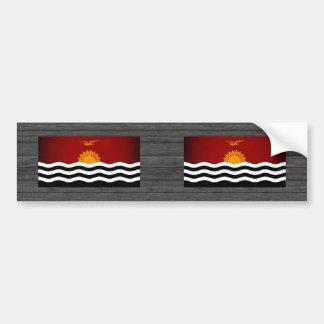 Monochrome Kiribati Flag Bumper Sticker