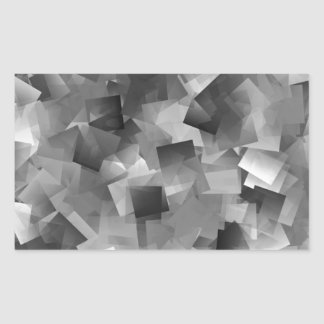 Monochrome Layers Rectangular Sticker