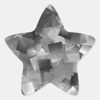 Monochrome Layers Star Sticker