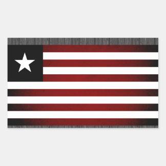 Monochrome Liberia Flag Rectangular Sticker