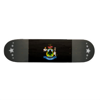 Monochrome Maine Flag Skate Deck