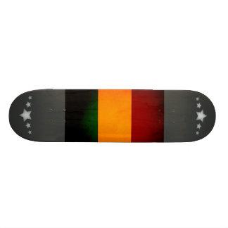 Monochrome Mali Flag Skateboard Deck