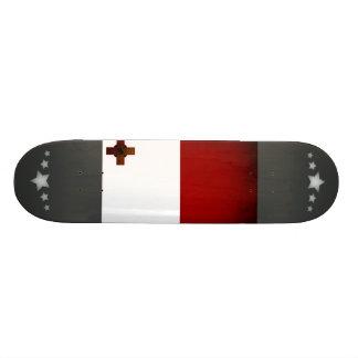 Monochrome Malta Flag Skate Board Deck
