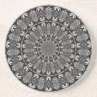 Monochrome Mandala Coaster