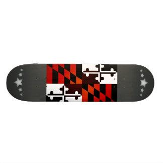 Monochrome Maryland Flag Skate Boards