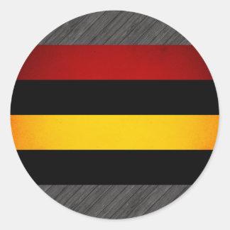 Monochrome Mauritius Flag Stickers