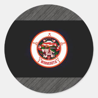 Monochrome Minnesota Flag Stickers