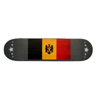 Monochrome Moldova Flag Skate Deck