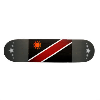 Monochrome Namibia Flag Custom Skateboard