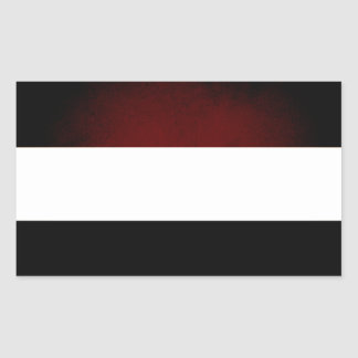Monochrome Netherlands Flag Rectangle Stickers