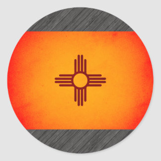 Monochrome New Mexico Flag Stickers