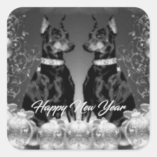 Monochrome New Year Sticker
