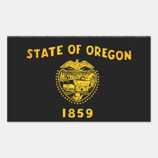 Monochrome Oregon Flag Rectangular Sticker