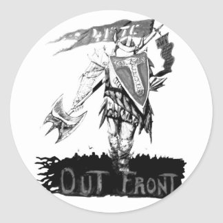 Monochrome OUT FRONT Round Sticker