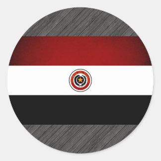 Monochrome Paraguay Flag Sticker