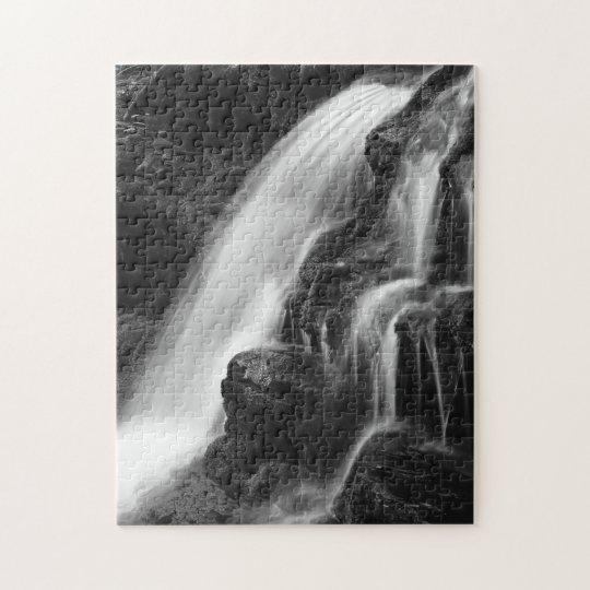 Monochrome Poconos Waterfall Jigsaw Puzzle
