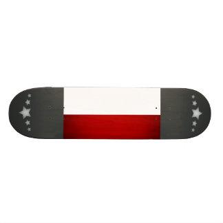 Monochrome Poland Flag Skate Board Deck