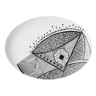Monochrome Porcelain Serving Platter
