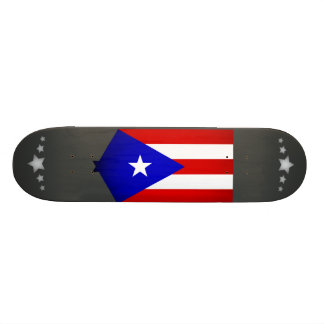 Monochrome Puerto Rico Flag Skateboard