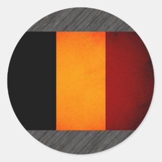 Monochrome Romania Flag Round Stickers