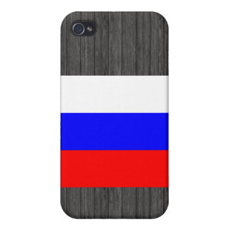 Monochrome Russia Flag iPhone 4/4S Covers
