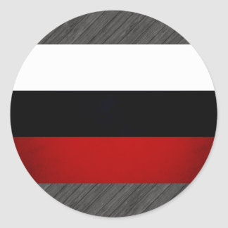 Monochrome Russian Federation Flag Round Stickers