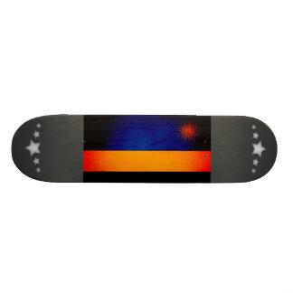 Monochrome Rwanda Flag Skate Board Deck