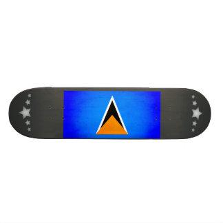Monochrome Saint Lucia Flag Skateboards