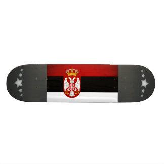 Monochrome Serbia Flag Custom Skate Board