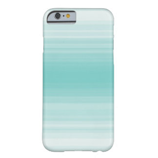 Monochrome simple blue stripe barely there iPhone 6 case
