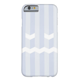 Monochrome simple blue stripe face barely there iPhone 6 case