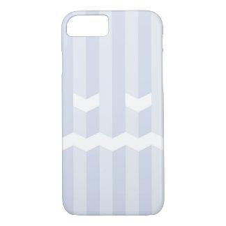 Monochrome simple blue stripe face iPhone 7 case