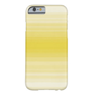 Monochrome simple yellow stripe barely there iPhone 6 case