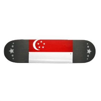 Monochrome Singapore Flag Custom Skateboard