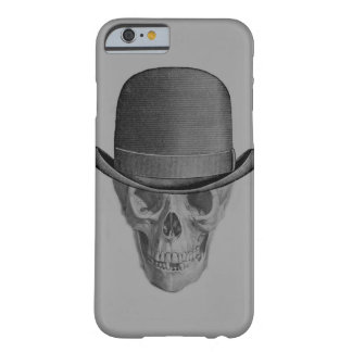 Monochrome Skull Derby Hat Barely There iPhone 6 Case