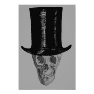 Monochrome Skull Top Hat Photo